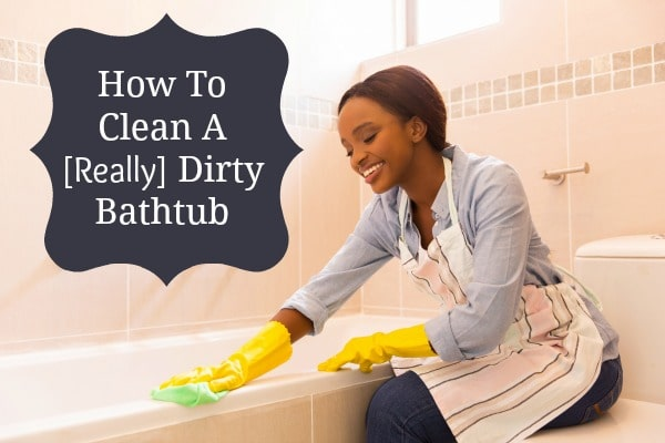 how to clean the bathtub