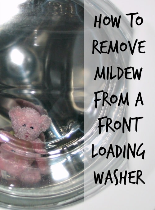 how to remove mildew from washing machine