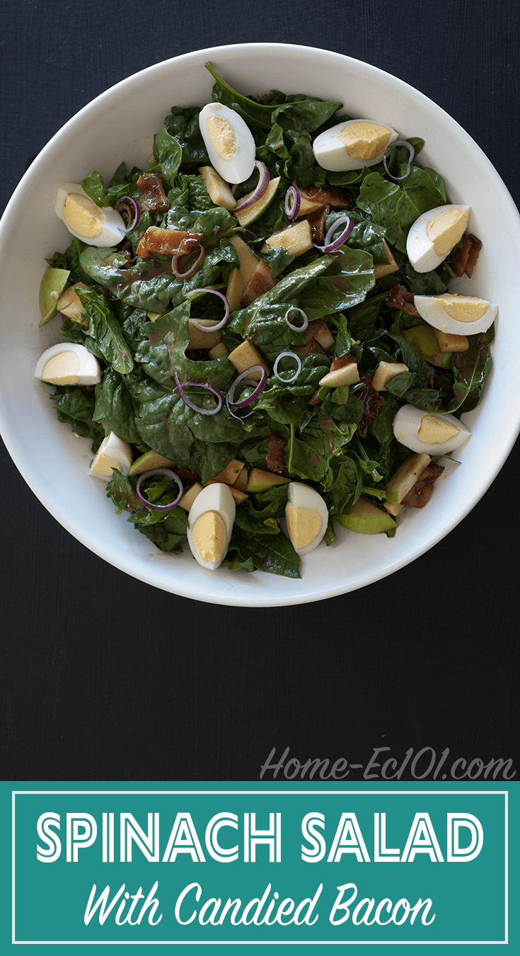 Spinach Salad with Candied Bacon