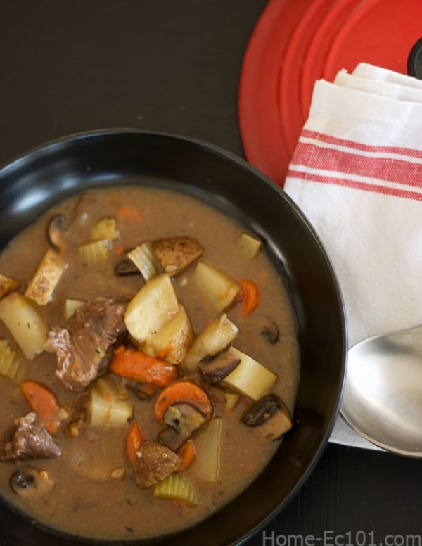 Home made beef stew