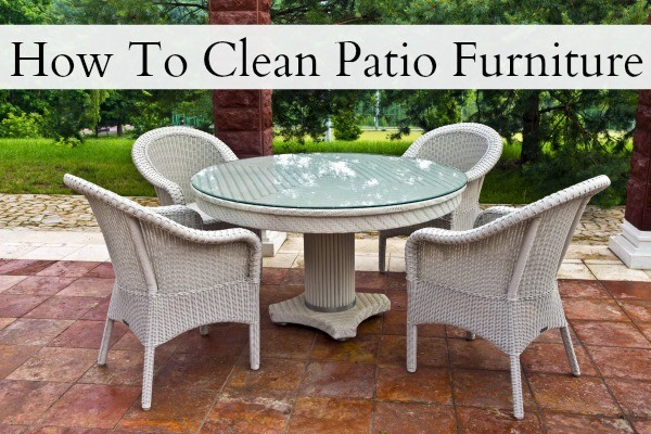 how to clean lawn furniture