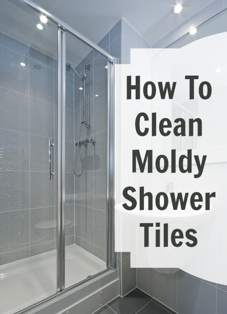 Moldy shower tile cha cha cha for How to clean bathroom grout mold