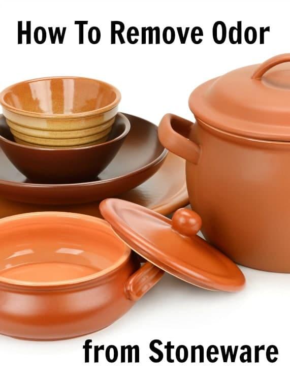 remove odor from stoneware
