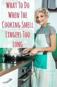 what to do when the cooking smell lingers too long