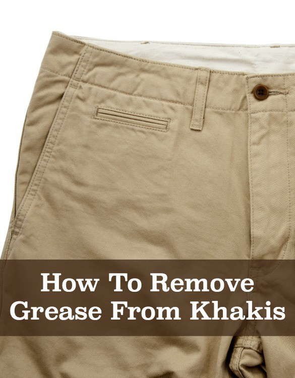 how to clean greasy clothes