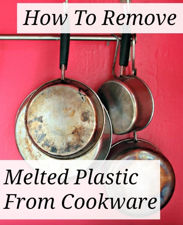 remove melted plastic from pan