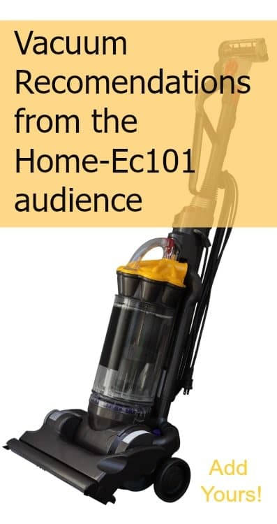 Ask The Audience Vacuum Recommendations Home Ec 101