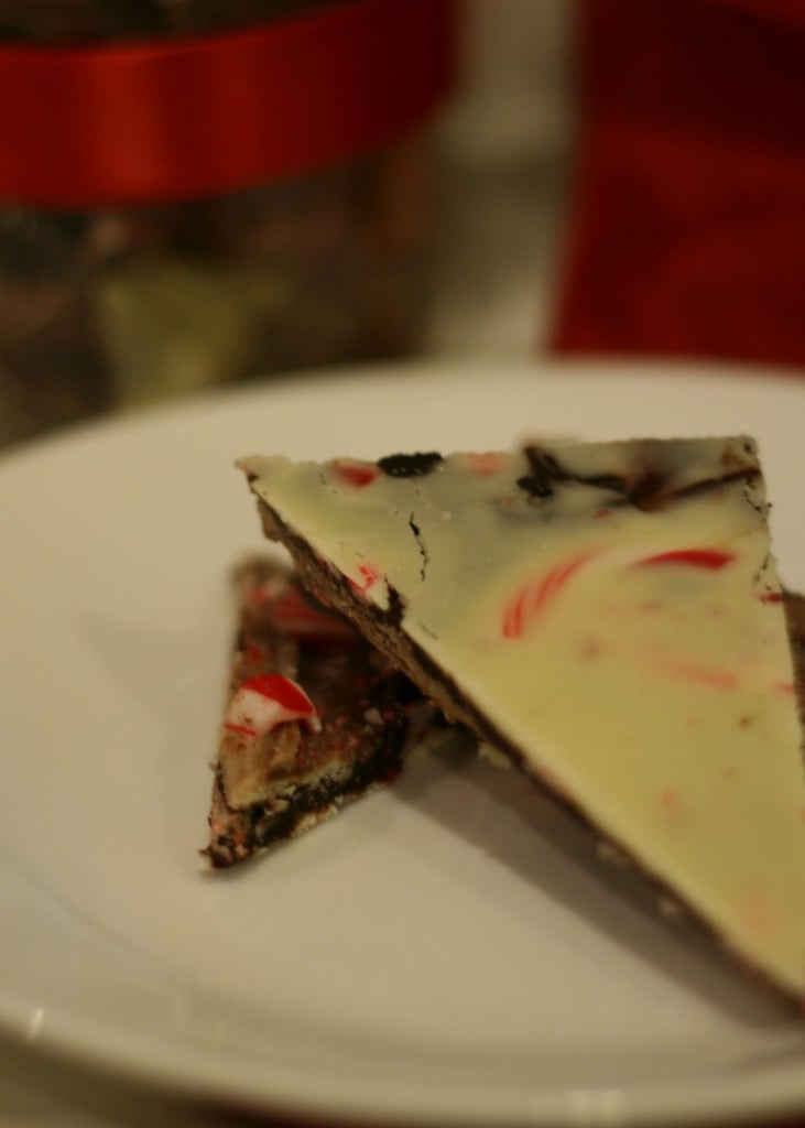 Peppermint bark plate