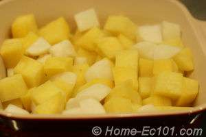 Diced Turnips and Rutabagas