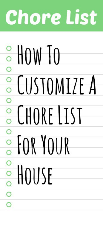 customize a chore list