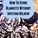 eliminate musty blankets