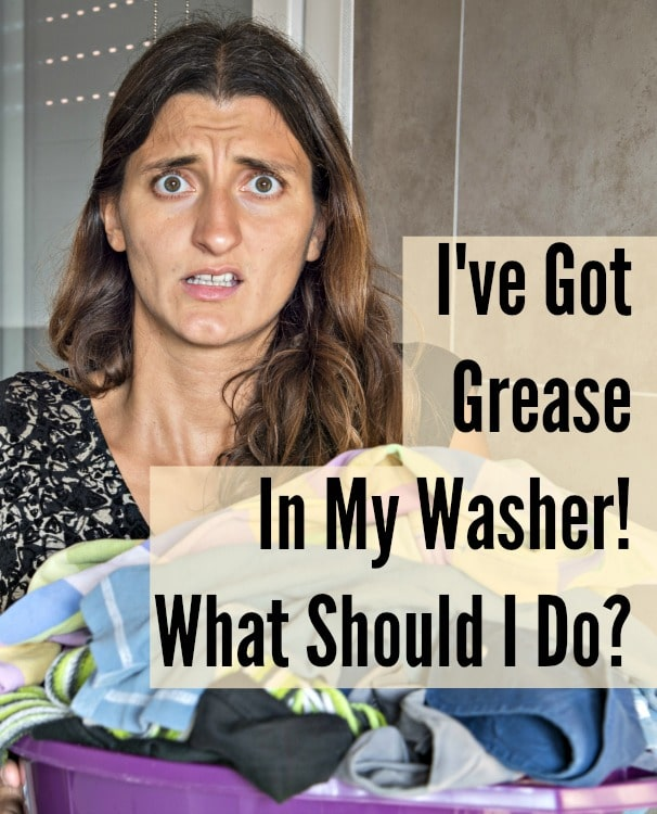 what to do about grease in the washing machine