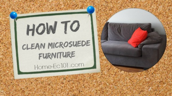 How to clean microsuede furniture