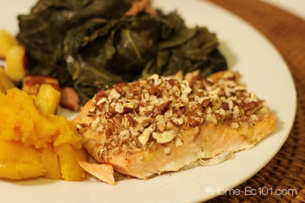 Pecan Crusted Salmon or Steelhead Trout - Home Ec 101