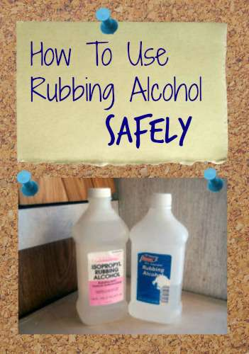 rubbing alcohol safety