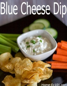 Simple, Chunky Blue Cheese Dressing and Dip