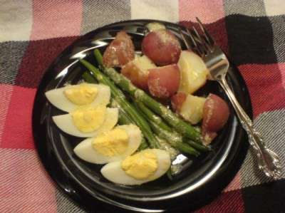 Hearty Potato Egg and Green Bean Salad - a composed salad