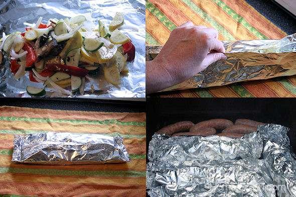 Grilled Vegetable Foil Packet Tutorial
