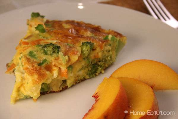 cheese frittata with green salad leek and goat cheese frittata ...