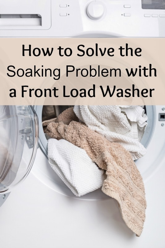 how to solve the soaking problem with front loading washers