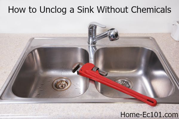 How To Unclog A Kitchen Sink Naturally Home Ec 101