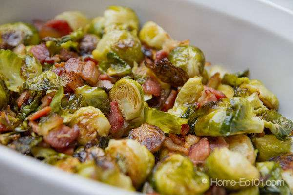 brussels sprouts with bacon 2 lbs brussels sprouts 4 6