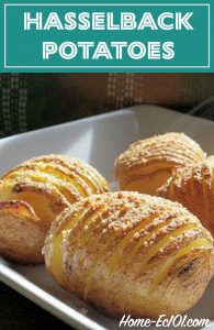These Hasselback potatoes are tasty and look fancy enough for guests.