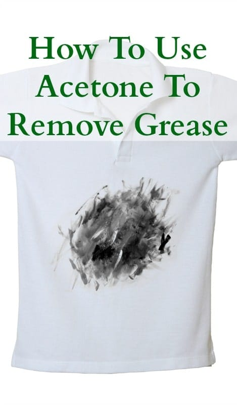 how to use acetone to remove grease stains home ec 101. Black Bedroom Furniture Sets. Home Design Ideas