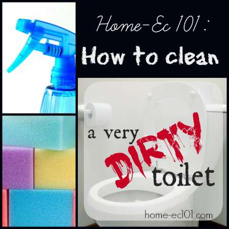 How to Clean A Very Dirty Toilet