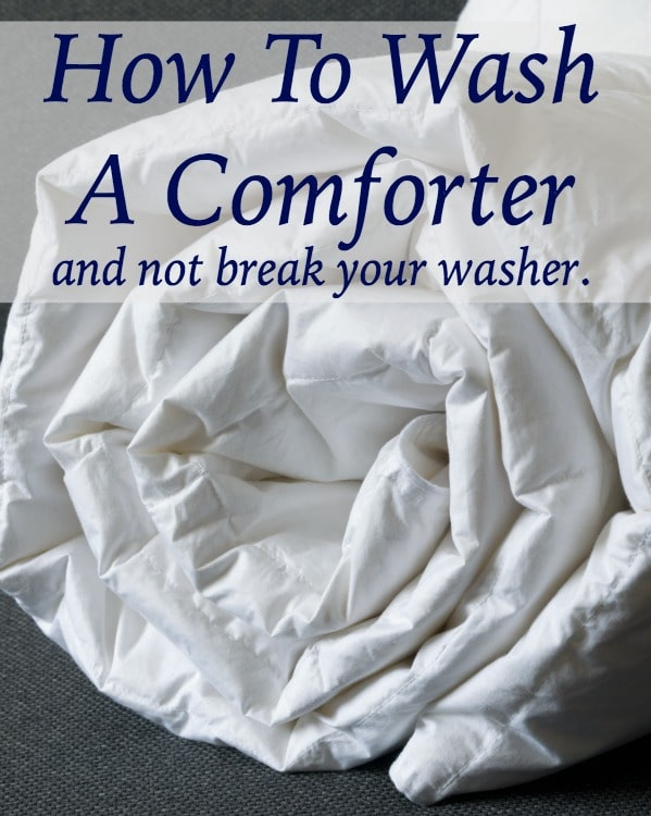 how to wash a comforter