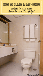 A step-by-step guide on how to clean a bathroom, thoroughly and safely