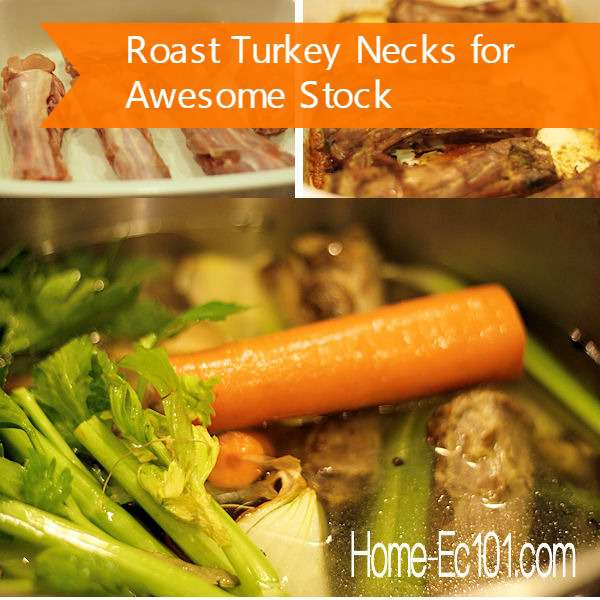 How to roast turkey necks for amazing stock