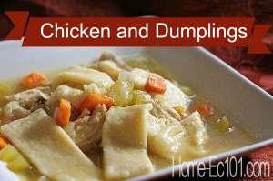 Chicken and dumplings from Home-Ec101.com