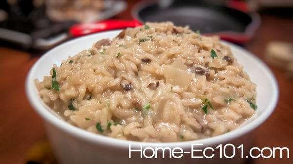 mushroom risotto simple mushroom risotto made with baby portobello ...