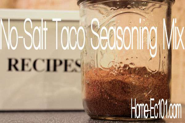 No Salt Taco Seasoning Recipe