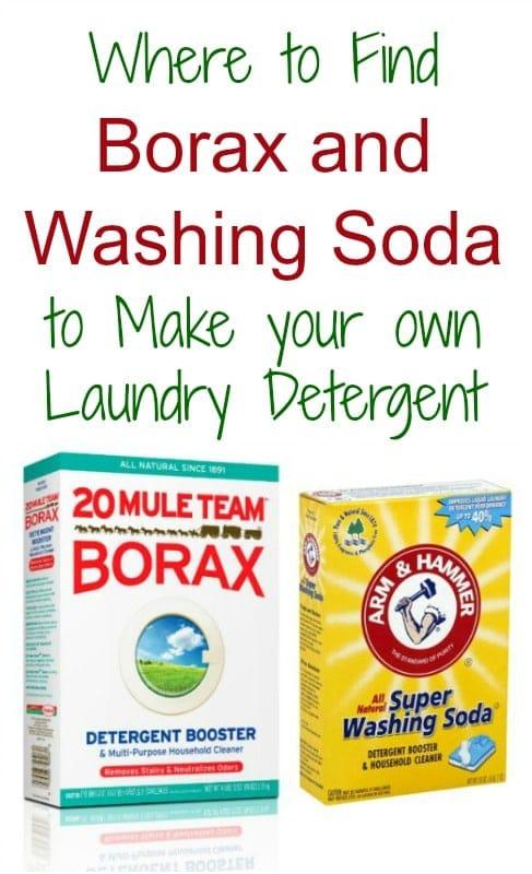 find borax and washing soda