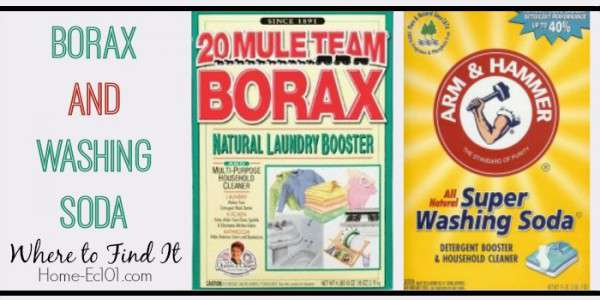 Where To Find Borax and Washing Soda