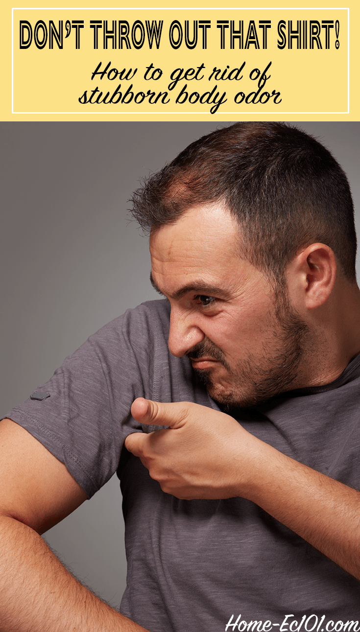 How to deal with stubborn body odor in laundry home ec 101 for How to get bad smell out of armpits in shirts