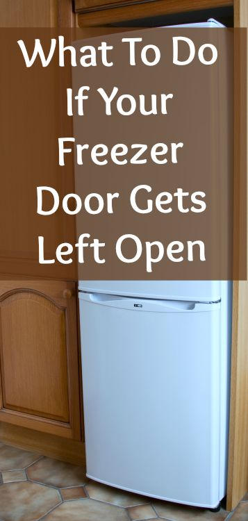freezer door left open