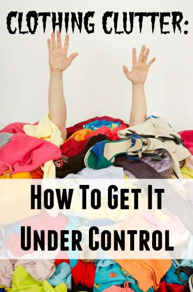 get clothing clutter under control
