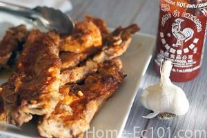 Honey Garlic Sriracha BBQ Sauce – Great for Ribs, Riblets, and Chicken