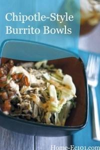 Shredded Pork Burrito Bowls