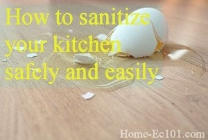 How to sanitize your kitchen safely and easily