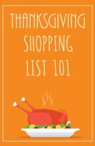 Don't Forget Anything on Your Thanksgiving Shopping List
