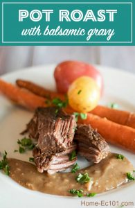 recipe for pot roast with balsamic gravy