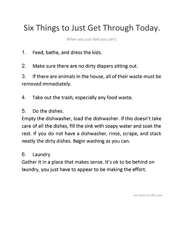 Six Things to Just Get Through Today