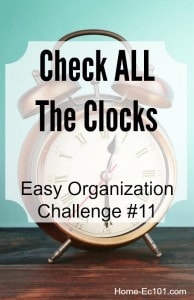 Organizational Sunday #11: Change Your Clocks (Even in the Car)