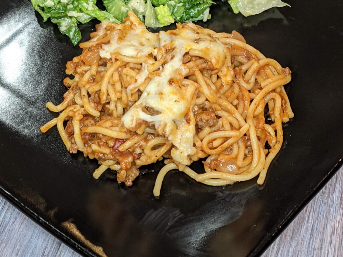 Baked Spaghetti Comfort Food, Perfect for New Babies, Grieving or Recovering Families, or Just a Cold Winter Night