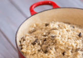 This simple risotto is company dinner winner. Serve with chicken or pork and a side salad.